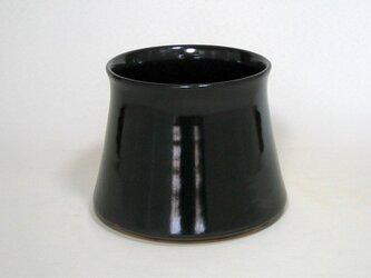 黒釉 フジツボ形植木鉢の画像