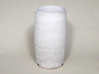 白マット 筒長植木鉢の画像