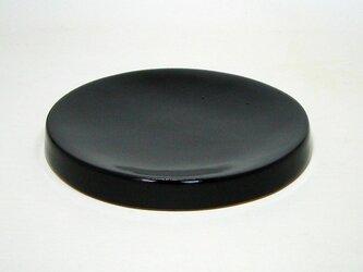 黒釉 たいこ受皿の画像