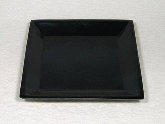 黒釉 四角受皿の画像