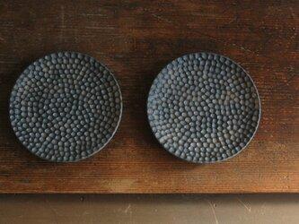 黒結晶水玉菓子皿・丸の画像