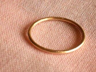 【運命の赤い糸】18kピンクゴールド製 「幸せをつかむピンキーリング」の画像