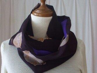 アンティーク着物から粋なスヌード 絹の画像