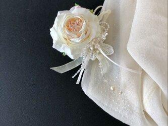 薔薇のミニコサージュ&ヘアーアクセサリーの画像