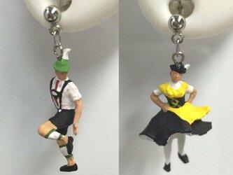 フォークダンスな2人♡シックブラック~街の人シリーズ~(ペア)の画像