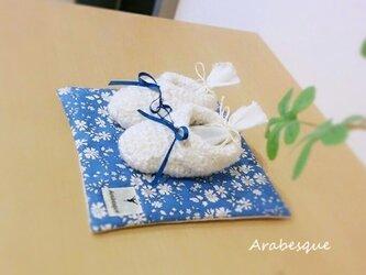 出産祝いやお教室のインテリアに♪幸せを呼ぶベビーシューズ(ブルー)の画像