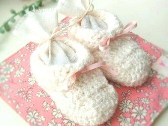 出産祝いやお教室のインテリアに♪幸せを呼ぶベビーシューズ(ピンク)の画像