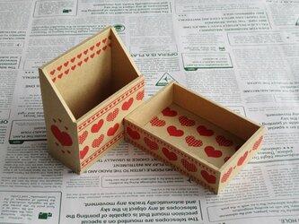 ハートの小箱セット(クラフト)の画像