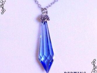 クリスタルのネックレス・ブルーの画像