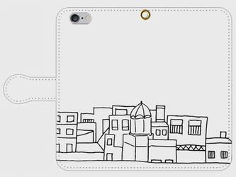 【送料無料】iPhone6/6s手帳型スマホケース まちなみ2の画像