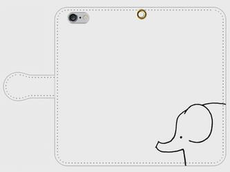 【送料無料】iPhone6/6s手帳型スマホケース 象の画像