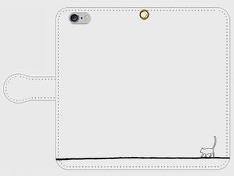 【送料無料】iPhone6/6s手帳型スマホケース あるくねこの画像