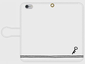 【送料無料】iPhone6/6s手帳型スマホケース 鍵の画像