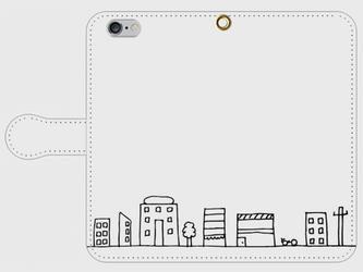【送料無料】iPhone6/6s手帳型スマホケース まちなみの画像