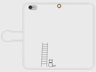 【送料無料】iPhone6/6s手帳型スマホケース はしごと猫の画像