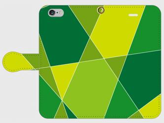 【送料無料】iPhone6/6s手帳型スマホケース 幾何学模様3の画像