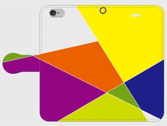 【送料無料】iPhone6/6s手帳型スマホケース 幾何学模様1の画像
