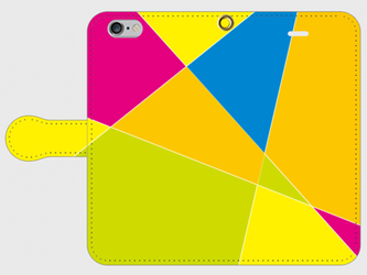 【送料無料】iPhone6/6s手帳型スマホケース 幾何学模様2の画像