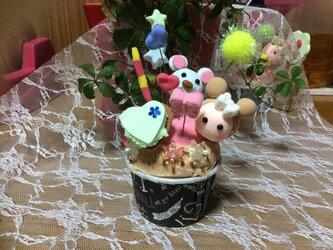 カップケーキくまの画像