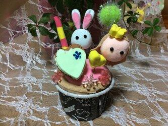 カップケーキうさぎの画像