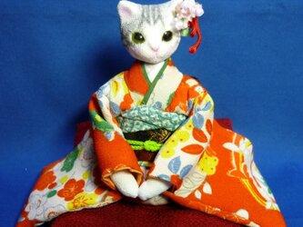 k様オーダー品 振袖猫さん姉妹 妹猫さんの画像