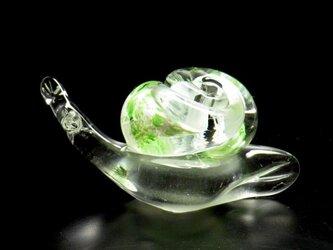 ガラスのかたつむり『グリーン』の画像