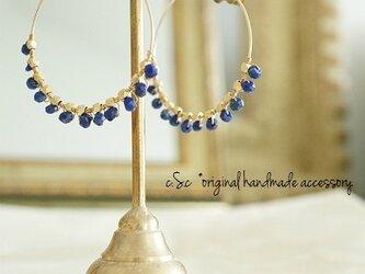 Lapis lazuli 14kgfフープピアスの画像