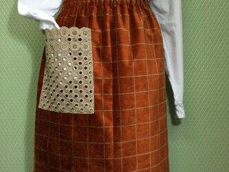 ベルベット風イタリアンコットン100%スカートの画像