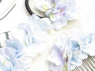夏色紫陽花(あじさい)の髪飾り 3点セットの画像