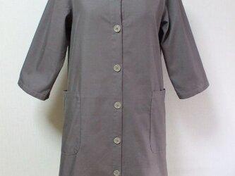 セーラー衿7分丈袖コート  M~Lサイズ ベージュ 受注生産一週間待ちの画像