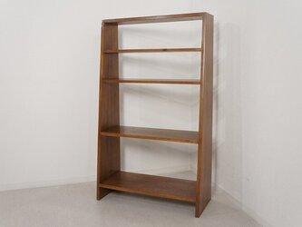 アンティーク調 飾り棚 ブックシェルフ 本棚 マホガニー無垢の画像