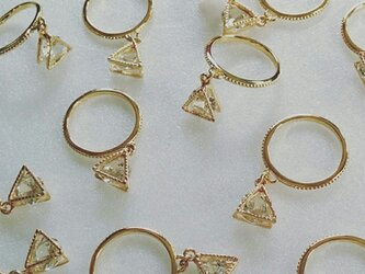 triangle in cz ringの画像