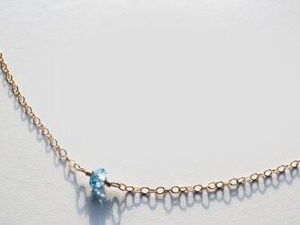 ロンドンブルートパーズ ネックレス London Blue Topaz Necklace(14kgf) N0007の画像