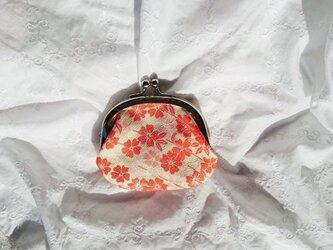 夕桜 正絹 西陣織 の画像