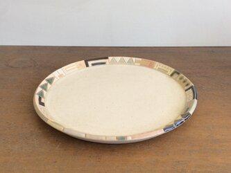 幾何学文様7寸皿(No.273)の画像