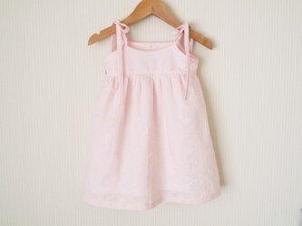 <Y様ご予約品>ピンクの肩リボンのキャミワンピース(100cm)の画像
