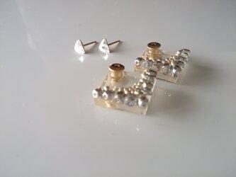 【再販】送料無料 耳に添うbijou catch pierce『silver』の画像