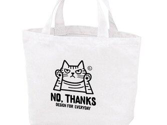 NO, THANKS ~ねこシリーズ~  ポリキャンバストートバッグS 【受注生産品】の画像
