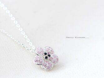 Cherry Blossoms 桜 ネックレス シルバー925の画像