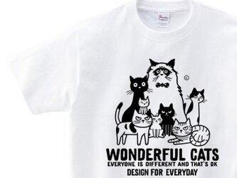 ワンダフル★キャッツ ~ねこシリーズ~150.160(女性M.L) Tシャツ【受注生産品】の画像