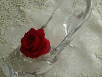 プリザーブドフラワー   ガラスの靴   薔薇  プレゼントの画像