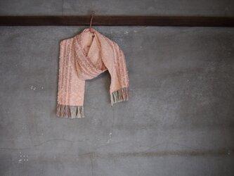 手織り/cotton ミニマフラー OrangeneOn (+orimi)の画像
