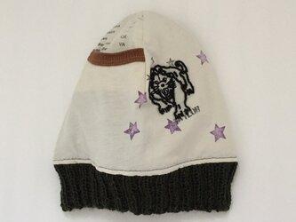 タイガーときらめく星のニット帽(リバーシブル)の画像