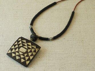 ひょうたんアートのネックレスの画像