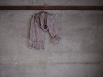 手織り/silkmuffler, 白銀-lame PLAIN (+orimi)の画像