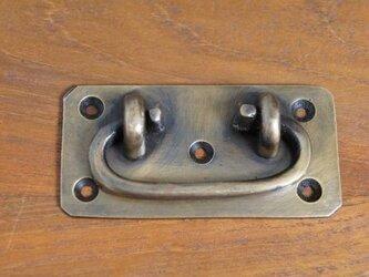 アンティーク調 真鍮製 引手金具 取っ手 ハンドル ブラス レトロの画像