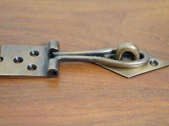 アンティーク調 ヒンジタイプ ロック金具 真鍮製 掛金 ブラスの画像