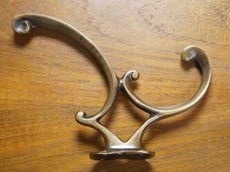 アンティーク調 ウォールハンガーフック 金具 ブラス 真鍮製の画像