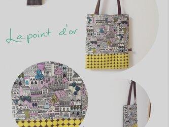 【受注製作】北欧柄   petanko bag  ★yellowの画像