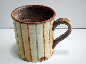 百色(ももいろ)象嵌 マグカップ 麦わら 水色の画像